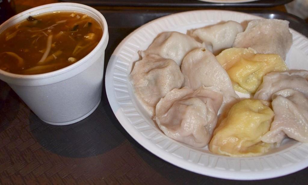 Ужин в Нью-Йорке в закусочной Vanessa Dumpling