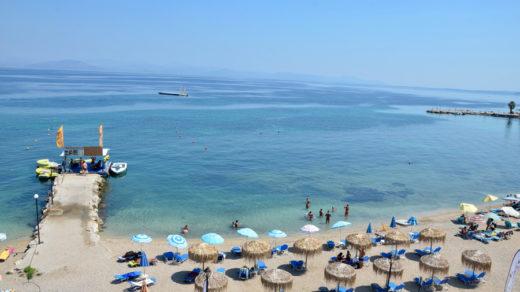 Корфу, Бенитсес пляж