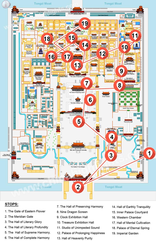 Запретный-город-карта Пекин