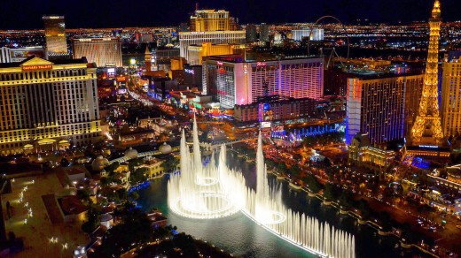 вид из отеля The Cosmopolitan of Las Vegas